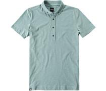 Polo-Shirt, Slim Fit, Baumwoll-Jersey, mint
