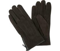 Handschuhe, Ziegen-Veloursleder, dunkel