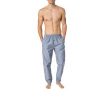 Pyjamahose, Baumwolle, blau