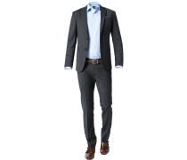 Anzug, Slim Fit, Wolle, anthrazit meliert