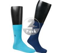 Socken, Baumwolle, -türkis