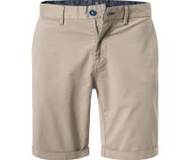 Hose Shorts, Regular Fit, Baumwoll-Stretch, sand