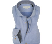 Hemd, Modern Fit, Chambray, bleu