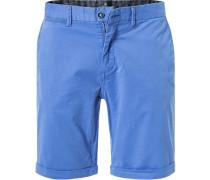 Hose Shorts, Regular Fit, Baumwoll-Stretch, sky