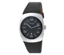Uhren Armbanduhr, Edelstahl Lederband, anthrazit
