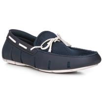 Schuhe Loafer, Kautschuk wassertauglich, marine