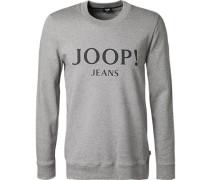 Sweatshirt, Baumwolle,  meliert