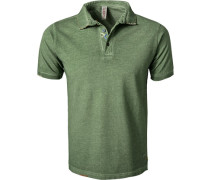 Polo-Shirt, Baumwoll-Piqué, mai meliert