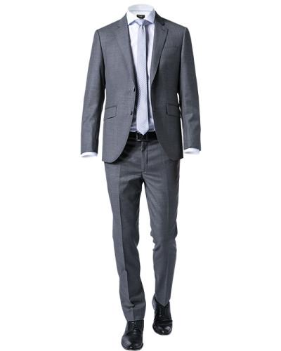 Anzug, Slim Fit, Wolle,  meliert