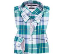 Hemd, Regular Fit, Popeline, -blau kariert