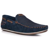 Schuhe Mokassin, Leder-Textil
