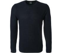 Pullover, Regular Fit, Schurwolle, navy