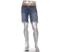 Jeansbermudas Slipe, Regular Slim Fit, Baumwoll-Stretch