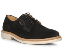 Schuhe Derby, Veloursleder, navy