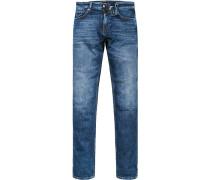 Jeans, Slim Fit, Baumwoll-Stretch, denim