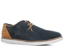Schuhe Sneaker, Veloursleder, marine
