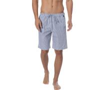 Schlafanzug Pyjamashorts, Baumwolle, -grau kariert