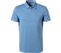 Polo-Shirt, Leinen, hell meliert