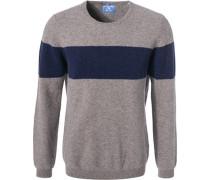 Pullover, Modern Fit, Schurwolle-Yak, grau meliert