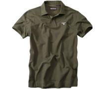 Polo-Shirt, Baumwoll-Piqué, grün