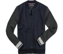 Cardigan, Vintage Fit, Baumwolle, -grau meliert