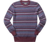 Pullover, Kaschmir-Schurwolle,  gemustert