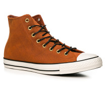 Schuhe Sneaker, Nubukleder, rost