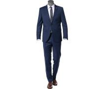 Anzug, Modern Fit, Schurwolle,  gemustert