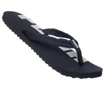 Schuhe Zehensandalen, Textil, navy-weiß