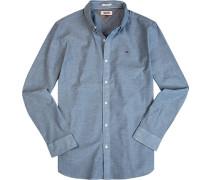Hemd, Regular Fit, Oxford, jeans