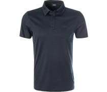 Polo-Shirt, Modern Fit, Baumwoll-Jersey, dunkel