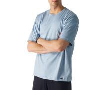 T-Shirt, Baumwolle, bleu