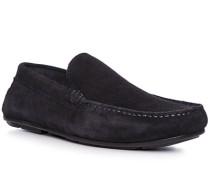 Schuhe Mokassin, Veloursleder, nacht