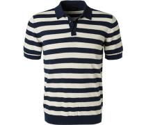 Polo-Shirt, Baumwolle, navy gestreift