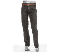 Jeans Stone, Modern Fit, Baumwoll-Stretch, stein