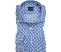 Hemd, Modern Fit, Popeline, weiß- gemustert