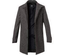 Mantel, Wolle, dunkel gemustert