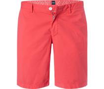 Hose Shorts, Regular Fit, Baumwolle, koralle