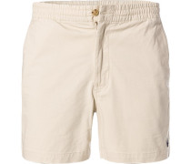 Hose Shorts, Classic Fit, Baumwolle, hell