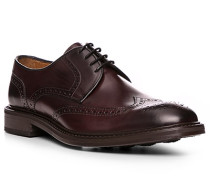 Schuhe Brogue, Leder, bordeaux