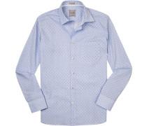 Hemd, Modern Fit, Popeline, -weiß gestreift