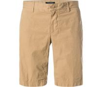 Hose Shorts, Regular Fit, Baumwolle, camel
