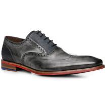 Schuhe Oxford, Leder, -navy gemustert