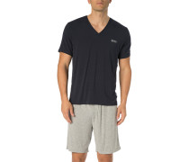 T-Shirt, Mikrofaser, navy