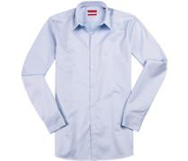 Hemd, Extra Slim Fit, Twill, bleu