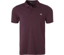 Polo-Shirt, Baumwoll-Piquè, brombeere