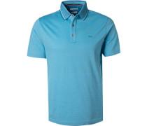 Polo-Shirt, Baumwoll-Piqué, hell meliert