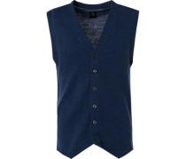 Strickweste, Woll-Alpaka-Microfaser, jeans meliert