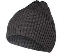 Mütze, Schurwolle, dunkel meliert