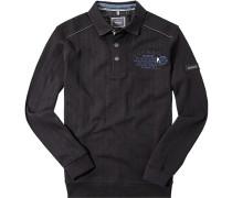 Pullover Troyer, Baumwolle, marine gestreift